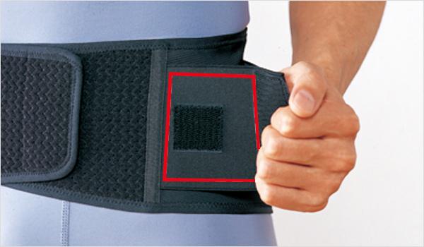 装着しやすい補強ベルト
