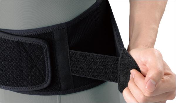 幅狭と一体型のベルト