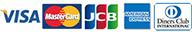 VISA MasterCard JCB AMERICAN EXPRESS Diners Club